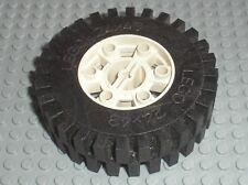 Roue LEGO TECHNIC White wheel 24 x 43 ref 3739 + Tyre 3740 / set 8865 Test Car