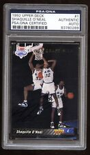 1992-93 Upper Deck #1 Draft Pick AUTO Shaquille SHAQ O'Neal SP AU RC! PSA/DNA