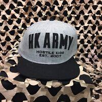 NEW HK Army Paintball Snapback Varsity Hat - Grey/Black