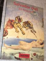 Salvador Dali 30 Postcards Taschen Book Rare!