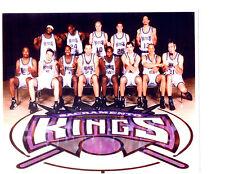 2001 2002 SACRAMENTO KINGS MIDDLE FINGER  8X10 TEAM PHOTO CALIFORNIA USA