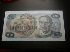 1000 Schilling 1961 Kaplan Banknote  Österreich   W/19/389