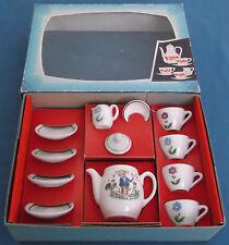 VINTAGE CHILDRENS TEA SET PORZELLAN KINDERSERVICE TOY EAST GERMANY ORIGINAL BOX
