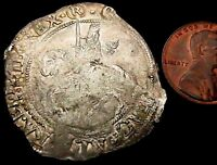 T401: 1644-45 Charles 1st Hammered Silver Halfcrown- abt as struck - S.2778