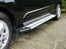 Aluminium Side Step Running Boards for Ford Transit Custom (2013 on) [LWB]