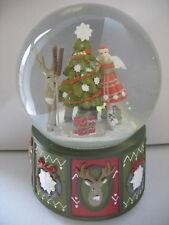 CHRISTMAS GIFT ALPINE FAIRY/REINDEER  MUSIC SNOW DOME ORNAMENT BY GISELA GRAHAM