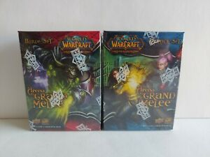 World of Warcraft WoW TCG Arena Grand Melee Horde/Alliance SET OF (2) NEW NIB