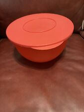 Large Red Tupperware 4.3 L Impressions Bowl