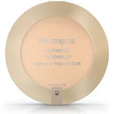 Neutrogena Mineral Sheers Powder Foundation, Nude [40] 0.34 oz