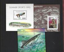Tanzania sc#1025,1135,1143 (1993) Souvenir Sheets MNH