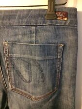 •• Women's Sarah Silver Jeans Size 29 X 34 Blue Jean Zipper Stretch Blue Denim