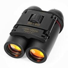 Black Portable Night Vision Mini 30x60 Binoculars Telescope Telescopio with Bag