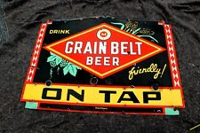 Old Grain Belt Beer porcelain neon sign skin.see other signs, Ford, Cadillac