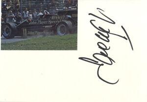 Elio De Angelis  -  Italian Formula 1 Motor Racing Driver In Person Signed Card.