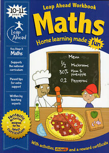 Leap Ahead Maths Workbook Home Learning made fun KS2 Age 10-11yrs