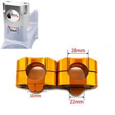 CNC Taper Fat Handle Bar Riser Mount Clamps Riser Bore 28mm Base 22mm For Suzuki