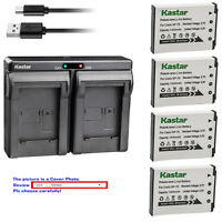Kastar Battery Dual Charger for Casio NP-70 BC-70L & Casio Exilim Zoom EX-Z150BK