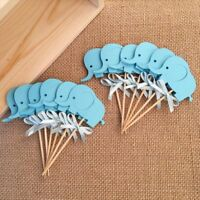 Cupcake Kids Wedding Favors Birthday Party Elephant Cake Toppers Decoration