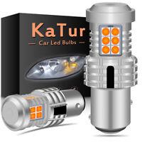 2 x ampoule CANBUS 24W LED 1157 BAY15D P21/5W ORANG Voiture Feux Jour Clignotant