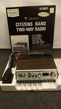 Vtg Sears Roadtalker 40 Channel Two-Way CB Radio 613811 w/Box