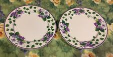 "❤️Waverly Garden Room Sweet Violets Dinner Set Of (2) Plates 11"" Purple Floral"