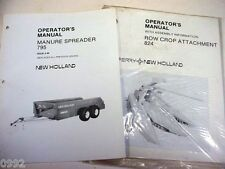 New Holland 795 Manure Spreader & 824 Cornhead Manuals