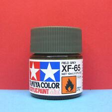 Tamiya #81765 Tamiya Color Acrylic Paint Mini XF-65 Flat Field Grey (10ml)