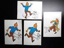 Lot de 4 rares cartes Tintin Sundancer Casterman Tim Kuifje