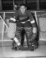 1950s Detroit Red Wings TERRY SAWCHUK Glossy 8x10 Photo Hockey Print Poster