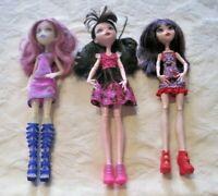 Monster High Doll Lot ~ Draculaura~Elissabat~Ari all w/Original Clothes/Footwear
