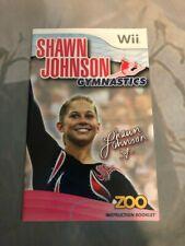 Shawn Johnson Gymnastics (Wii, 2010) Manual Only FREE SHIPPING!!!