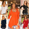 Hot! Women Loose T shirt Blouse lady Casual Short Sleeve Tops Shirt plus size