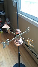 New listing Good Directions Full Weathervane Set-up Polished Copper Balls Brass Directionals