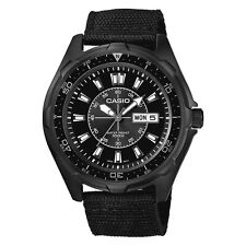 New Casio Men's AMW110-1AV Classic Stainless Steel Watch With Black Nylon Band
