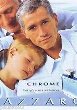 PUBLICITE ADVERTISING 115 2001 Azzaro Chrome  eau de toilette pour homme 1