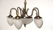 Antik  Französische Messing-Glas Kronleuchter, Lüster 7 Flammig