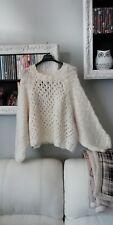 Maglioncino bianco H & M maniche ampie a pipistrello palloncino h&m maglione