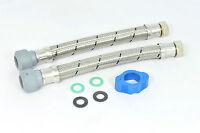"""2 x Hep2O 300mm x 22mm x 3/4"""" flexible bath tap connectors. Hep20 flexy hose"""