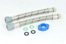"2 x Hep2O 300mm x 22mm x 3/4"" flexible tap connectors. Flexy hose push fit bath"