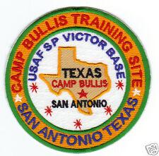 USAF BASE PATCH, CAMP BULLIS TNG SITE , USAF SP VICTOR BASE, SAN ANTONIO TEXAS,Y