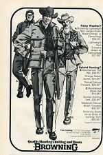 1976 small Print Ad of Browning Hunting Clothing & Boots