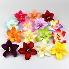 10Pcs Artificial Silk Flowers Heads Bulk Fake Floral Orchid Wedding Craft Decor