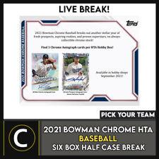 2021 BOWMAN CHROME Hta бейсбол 6 коробка (половина чехол) перерыв #A1233 — выбирайте свою команду