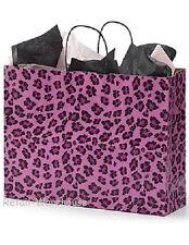 Paper Bags Vogue Retail Merchandise Shopping 25 Pink Leopard Cheetah 16 X 6 X 12