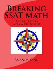 Breaking SSAT Math Upper Level: Answer Book (Paperback or Softback)