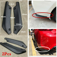 2x Matte Black Winglet Car Rear Bumper Lip Side Skirt Splitter Canard Diffuser