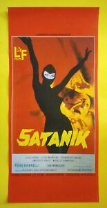 Locandina Cinematografica(Riproduzione) Film SATANIK julio pena no dvd vhs lp cd