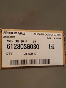 Genuine OEM Subaru 61280SG030 Driver Front Window Sweep Molding 2014-18 Forester