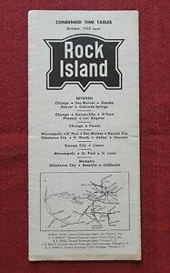 1953 ROCK ISLAND RAILWAY RAILROAD TIME TABLE BROCHURE