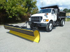 2000 FORD F-750 CONTRACTOR SNOWPLOW DUMP TRUCK SINGLE AXLE